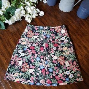 NWOT ZARA WOMAN Floral Boho A-Line Skirt sz Small
